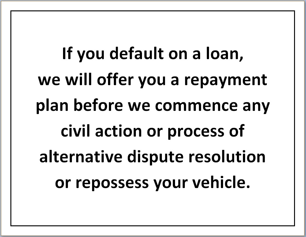 Nevada Repayment Notice
